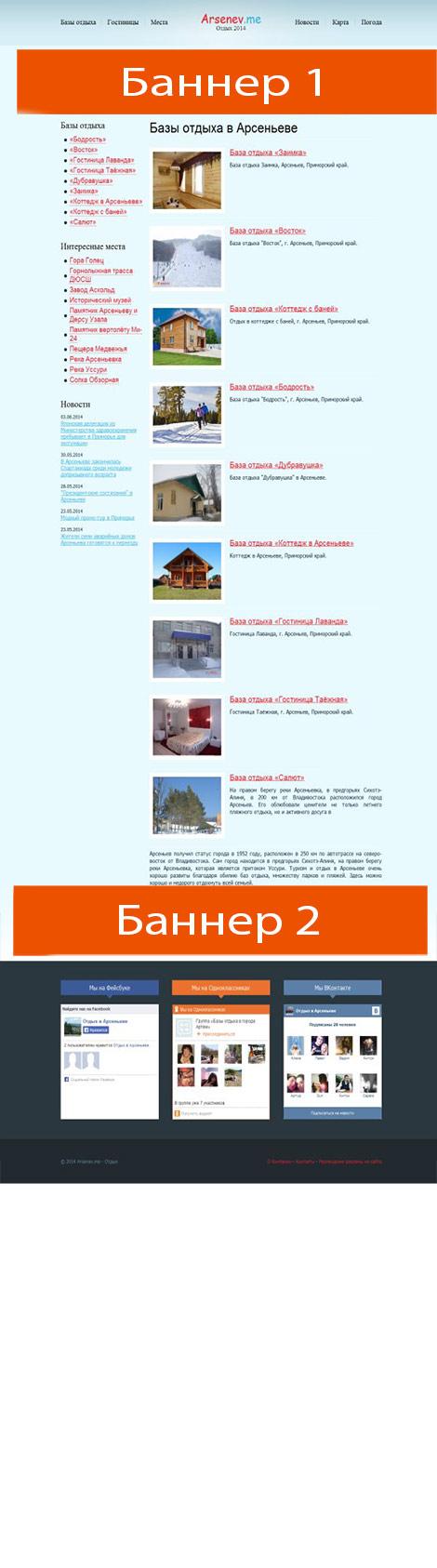схема размещения рекламы на сайте arsenev.me  height=